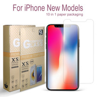 pacotes venda por atacado-Para protetor de tela New iPhone 11 X XR XS Max vidro temperado para iPhone 7 8 Plus LG Stylo 5 MOTO 0,26 milímetros G7 Power Play 2.5D 9H Em Package