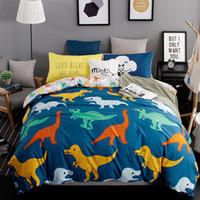 Wholesale bear bedding resale online - Home Textile Polar Bear Animal Printed Kids Bedding Set Children s Bed Linen set Bulldog Dinosaur Bed Sheet Duvet Cover Set