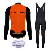 Wholesale cycling jerseys set thermal winter for sale - Group buy 2020 Winter Etxeond Cycling Jersey Set MTB Bicycle Clothing Ropa Ciclismo Thermal Fleece Bike Clothes Mens Long Cycling Wear ge