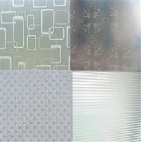 buzlu etiket toptan satış-1 M x 45 CM Pencere Kapı Gizlilik Filmi Odası Banyo Ev Cam Sticker PVC Buzlu