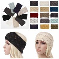 Wholesale hair for twists for sale - 21 color Knitted Crochet Twist Headband Turban Winter Ear Warmer Headwrap Elastic Hair Band for Women Hair Accessories KKA6332