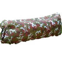 Wholesale inflatable beds resale online - Camo Rainbow Inflatable Sofa Foldable Outdoor Camping Sleeping Bag Lazy Person Inflation Bed Water Proof Oxford Cloth xw C1