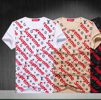ingrosso camicie gialle per la moda degli uomini-2019 Nuovo arrivo Estate Tees T-shirt da uomo di alta qualità D2 Stampa Persone Abbigliamento moda Giallo Nero Bianco Taglia M-3XL ## 128