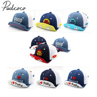 Wholesale baby snapback caps for sale - Group buy 2018 Brand New Toddler Kids Baby Boys Girls Baseball Dad Cap Unisex Embroidery Snapback Hat Summer Fashion Soft Brim