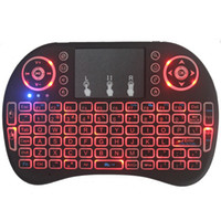 mini teclado de luz de fondo inalámbrico al por mayor-Mini teclado sin hilos i8 backlit Air Mouse 2.4G teclado de control remoto Panel táctil para Smart TV Box Android Notebook Tablet Pc