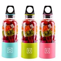limon suyu üreticileri toptan satış-Taşınabilir Elektrikli USB Sıkacağı Fincan Şişe 550 ML Şarj Edilebilir Portakal Narenciye Limon Meyve Sıkacağı Kalıntıları Suyu Smoothie Maker Mutfak Aletleri