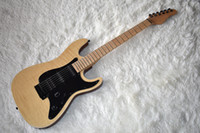 Wholesale eye guitar for sale - Group buy Factory Natural Wood Color Electric Guitar with Flame Maple Veneer Bird Eye Neck Black Hardware Can be Customized