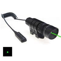 11 mm askı toptan satış-Açık Taktik 5 mW Yeşil Lazer Sight Kapsam Kuyruk Hattı Ile Yeşil Lazer Aydınlatıcı Anahtarı 11mm 20mm Picatinny Weaver Rail Dağı.