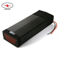 Wholesale bicycle light battery pack for sale - Group buy Electric Bicycle Battery v Electric Bike Lithium Ion Battery Pack Rear Rack V Ah Ah Ah with tail light for W