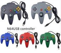 yeni oyun sistemleri toptan satış-YENI Uzun Denetleyici Oyun Pedi Joystick Sistemi için Perakende Ambalaj olmadan Nintendo 64 N64 Konsolu