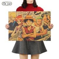 ingrosso parete adesiva di un pezzo-TIE LER One Piece P Poster stile classico Anime Kraft Paper Wall Sticker pittura decorativa 51.5X36cm
