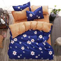 erkek yorgan toptan satış-Çiçek 4 adet Kız Erkek Çocuk Yatak Örtüsü Set Nevresim Yetişkin çocuk Çarşaf Ve Yastık Yorgan Yatak Seti 2TJ-61021