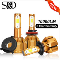 h1 фары автомобиля оптовых-2 pcs H1 H3 H4 H7 LED H11 HB3 9005 HB4 9006 H13 9004 9007 9012 LED Car Headlight Bulbs 6000K 10000LM Auto Headlamp 12V 24V