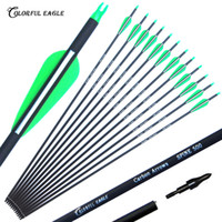 Wholesale hunt bow for sale - Group buy New Carbon Arrow quot quot quot Archery Arrows Spine500 Changeable Arrowheads Plastic Feathers for Hunting Compound Bow Arrows