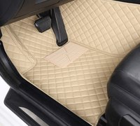 roter plastikboden groihandel-Custom Car Bodenmatte für intelligente alle Modelle fortwo forfour forjeremy Auto-Styling Individuelle Autofußmatten lila / rot