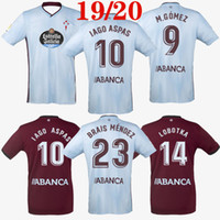 camiseta de fútbol de alta calidad tailandesa al por mayor-Camiseta de fútbol de calidad tailandesa 2019 2020 Celta Vigo 19 20 Celta de Vigo BONGONDA HERNANDEZ NOLITO camiseta de fútbol de local visitante camisetas 2019