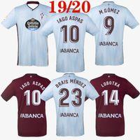 futbol tişörtleri tayland toptan satış-Üst tay kalite 2019 2020 Celta Vigo futbol forması 19 20 Celta de Vigo BONGONDA HERNANDEZ NOLITO home away futbol forması formalar 2019