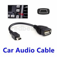 Wholesale otg extension cable for sale - Group buy Mini Pin Male USB to USB Female USB OTG Host Extension Cable Black color