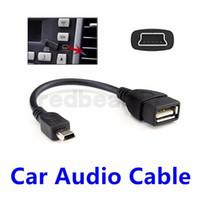 cable de extensión otg al por mayor-Mini 5 pines macho USB a USB 2.0 Hembra USB OTG Host Cable de extensión Color negro