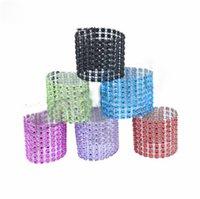 hebillas de anillos al por mayor-Nuevo 8 filas de mesa de la boda de la deducción del anillo de las servilletas y sillas hebilla red plástica que perfora los anillos decorativos de servilleta