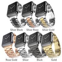 ver nuevo sin etiquetas al por mayor-Banda de reloj de acero inoxidable para Apple Watch Serie 4 40mm Metal Correas deportivas para Apple Watch 44mm 38mm Pulsera T190620