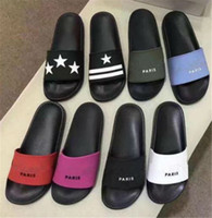 Wholesale mens summer loafers for sale - Group buy 2020 Luxury Paris Designer Sliders Mens Womens Summer Rubber Sandals Beach Slide Slippers Ladies Flip Flops Loafers Causal Indoor Shoes