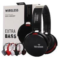 ingrosso gioco di mora-Extra Bass Auricolare Bluetooth senza fili Auricolare con microfono elettronico MDR-XB950BT Supporto auricolare rotante Play MP3 FILES TF Card