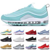 yeşil aşk toptan satış-Nike air max 97 97s Ucuz LONDRA AŞK AŞK koşu ayakkabı erkekler kadınlar için üçlü siyah beyaz Nane Yeşil altın bullet erkek eğitmen atletizm spor sneakers