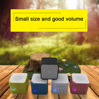 Wholesale music car speaker mp3 player for sale - Group buy Auto mm Square Colorful Lights Mini Speakers Plug in TF Card Crack Pattern MP3 Music Player Durable Portable Car Accessories