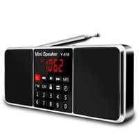 Wholesale am fm radio resale online - Multifunction Digital Fm Radio Media Speaker Mp3 Music Player Support Tf Card Usb Drive With Led Screen Display And Timer Func
