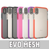 Wholesale s8 case online - Evo Mesh Soft TPU Protective Phone Case For iPhone X XR XS MAX Plus Samsung S8 S9 S9 Plus Note