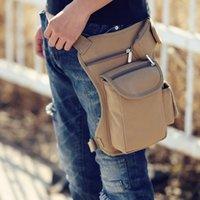 ingrosso borse da pesca all'aperto-Ciclismo tela Marsupio Outdoor Tactical Multi-funzione borsa da gamba per uomo e donna casual Sport Tasche pesca Tackle Bag