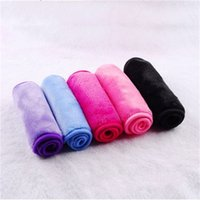 Wholesale black magic towels for sale - Group buy Magic Cleaning Towel Reusable Soft Makeup Remover Towels Fit Lazy Women Clean Beauty Clear Cloths Red Blue Black Color xcb E1