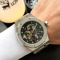 venda esqueleto dos relógios dos homens venda por atacado-Hot Sale Mens Watch Automático Mecânica Movimento Skeleton Dial luxo ROYAL OAK Series Relógio de pulso masculino Relógio Orologio Di Lusso Montre
