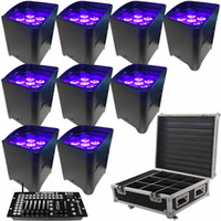 Wholesale par 25 bulb for sale - Group buy 10pcs App control uplighting Hex W in1 RGABW UV LED Battery Projector LED Par Lights for wedding with Rain Cover