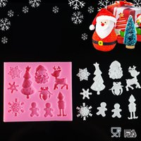 Wholesale mold silicone sale resale online - Hot Sales Christmas Theme Silicone Mold Fondant Cake Decorating Tools Silicone Soap Mold Silicone Cake Mold