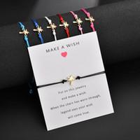 bracelets d'amitié pour femmes achat en gros de-Bracelet carte d'amitié carte -MAKE A WISH Gold Tone Alliage Arbre de noix de coco Bracelet Bijoux Bracelet Charme pour les filles Womens Enfants