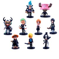 Wholesale anime one piece toy ship resale online - Anime One Piece PVC Action Figures Cute Mini Figure Toys Dolls Model Collection Toy Brinquedos Piece Set