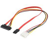 precio del cable ide al por mayor-7 + 15 22pin Serial ATA de envío SATA a IDE 4P disco duro Adaptador de corriente Cable NUEVO Aug16 la fábrica profesional de la gota de precio