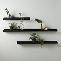 estilos de diseño de habitaciones al por mayor-La sala de estar negra del metal deja de lado el diseño simple del estilo europeo de los estantes del cuarto de baño
