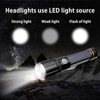ingrosso zoom fascio-Ricaricabile USB Ultra Bright Small Cree LED Torch Flashlight Beam Messa a fuoco Zoom