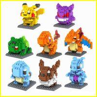 Wholesale loz blocks bricks resale online - New LOZ DIAMOND BLOCKS Toy Super Heroes Pikachu In CM Box Parent child Games Educational DIY Assemblage Bricks Toys D Puzzle Toy
