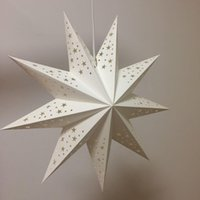 Wholesale star lights inch for sale - Group buy 17 Inch Party Decoration Lights White Pointed Paper Star Lampshade Lantern for Christmas Wedding Celebration