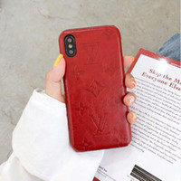 Wholesale Coque Luxury Phone Case For iPhone X XR XS Max s Plus S S8 S9 S10 Plus Note9 Designer Leather Hard Curve Cover Shell Skin Hull