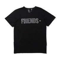 Wholesale womens fashion t shirts for sale – custom Vlone Womens T Shirt Tees Hip Hop Womens Tops Vlone Friends Cotton Short Sleeve Big V Logo Women Mens T shirt