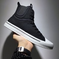 Wholesale dress shoes soft soles for sale - Group buy High Top Shoes Canvas Shoes Mens Mens Students Fashion Breathable Casual Shoes Men Daily Dress Rubber Soft Sole