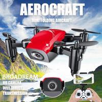 ingrosso fotocamera per elicottero a distanza telecamera a raggi x-3 centimetri Pocket Drone 2.4G Una tasca ritorno chiave Mini piegata S9 Drone quadcopter giocattoli di RC con Headless macchina fotografica e Librarsi