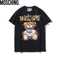 outdoor-shirts für männer großhandel-2019 sommer neue moschin o t baumwolle kurzarm atmungsaktiv männer frauen moschinos schaukel bär casual outdoor streetwear t-shirts