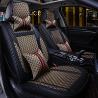 Wholesale seating covers resale online - 2020 New Luxury PU Leather Car seat covers For Toyota Corolla Camry Rav4 Auris Prius Yalis Avensis SUV auto Interior Accessories