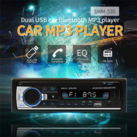 tragbarer musikspieler sd kartenslot großhandel-Bluetooth-Autoradio-Audio In-Dash-FM-AUX-Eingangsempfänger SD-USB-MP3-Radio-Player